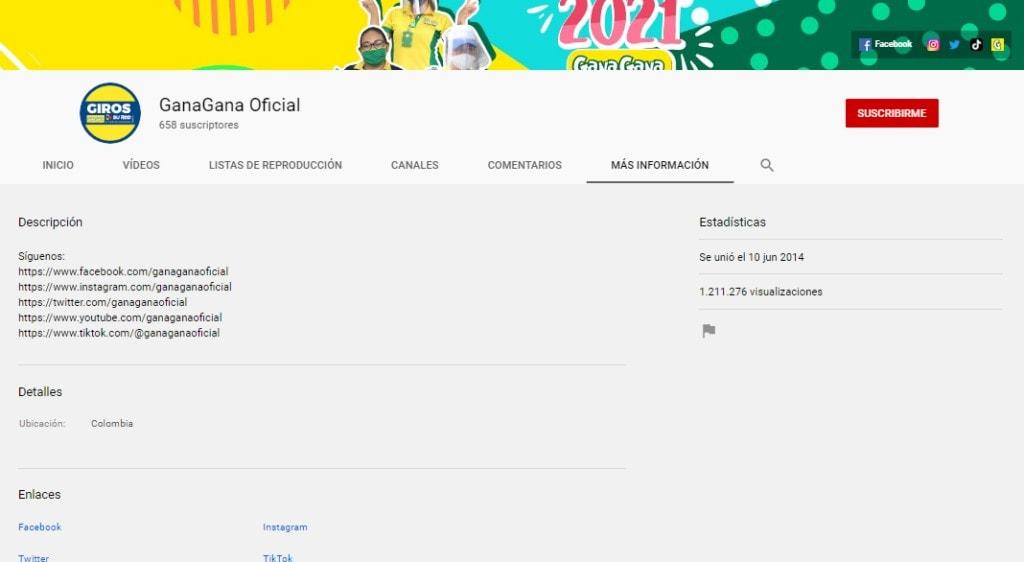 1. Youtube Gana Gana Mas Informacion