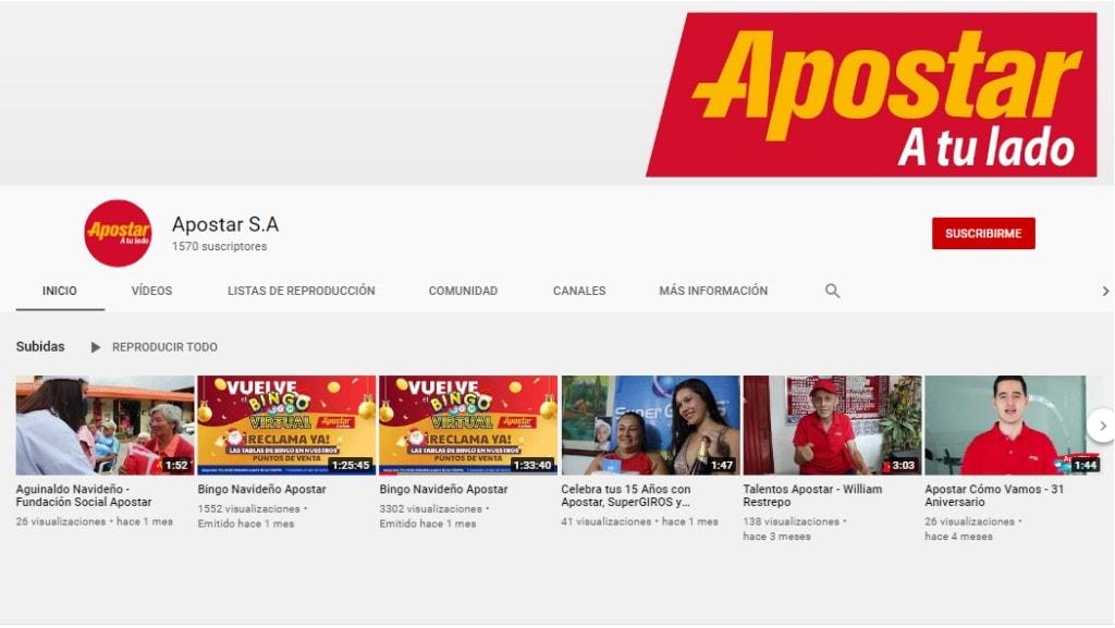 Apostar Youtube 1