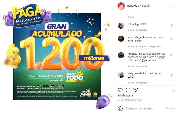 Instagram Comentario