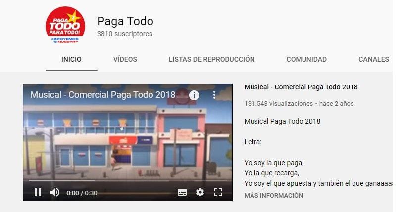 Youtube Pagatodo Listo