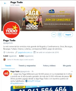 Pagatodo Twitter